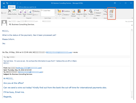 spear phishing email example