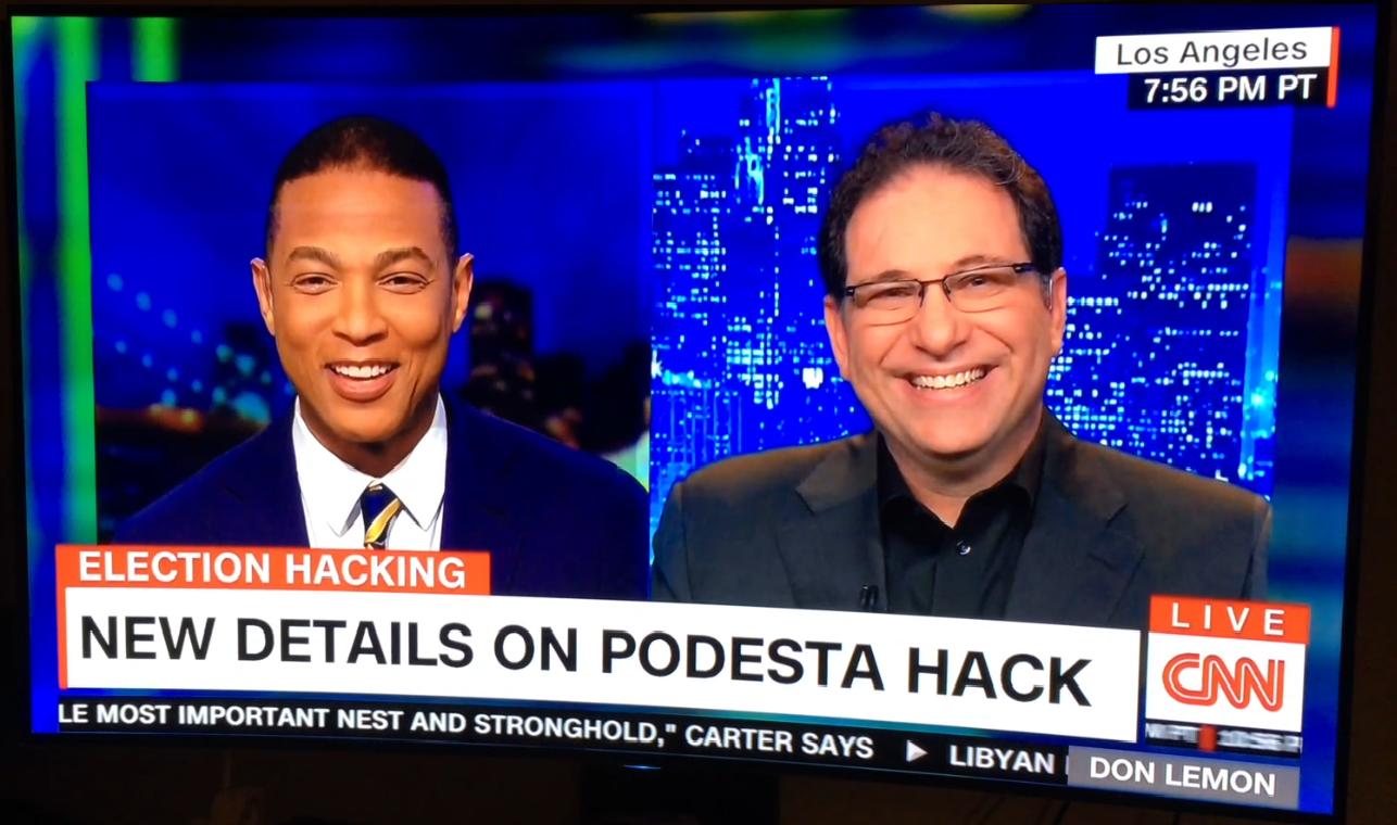 2016-14-14 CNN (Kevin with Don Lemon, Smiles, Podesta Hack)