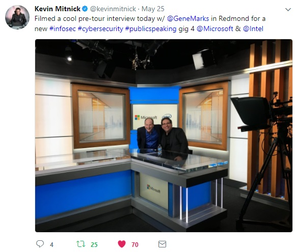 2017-05-25 Redmond, WA USA - Microsoft Filming with Gene Marks