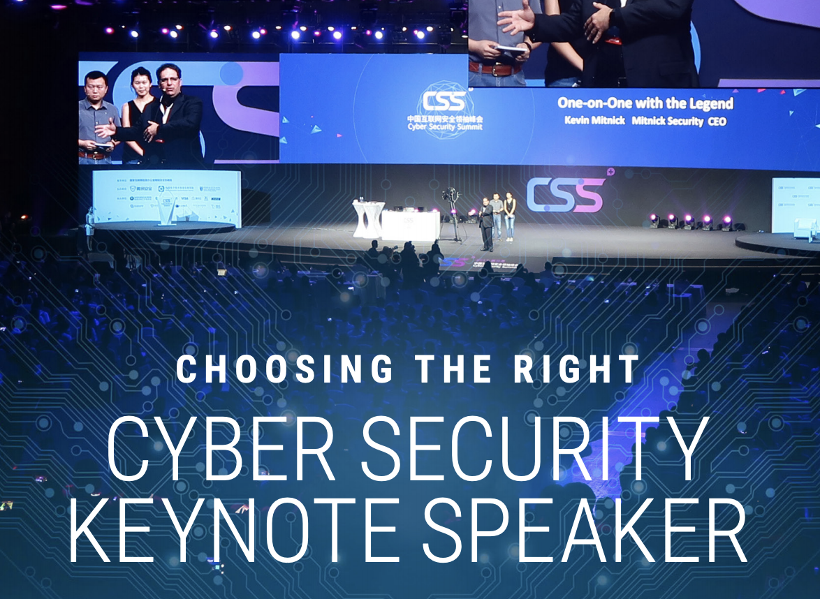 Choosing the right cybersecurity keynote speaker